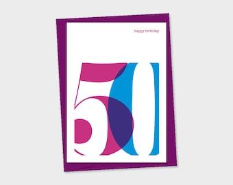 50th Birthday card – birthday card