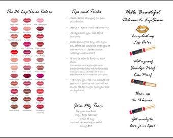 LipSense Brochure Lips - How to Apply - Tips & Tricks Insert