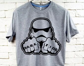 STAR WARS Dark Side Stormtrooper Gray T-Shirt For Men