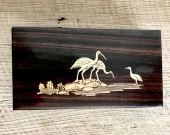 Rosewood Birds Trinket Box