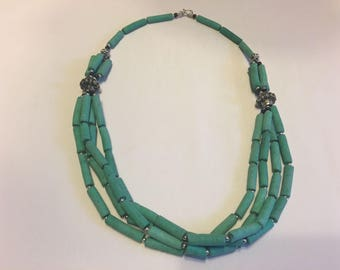Torquoise Moroccan Berber beaded necklace