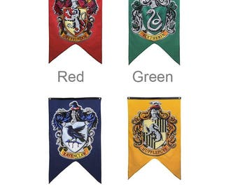 Harry Potter House Home Flag Banner Gryffindor Slytherin Ravenclaw Hufflepuff Gift