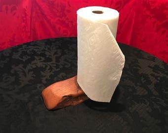 Rustic Mesquite Paper Towel Holder