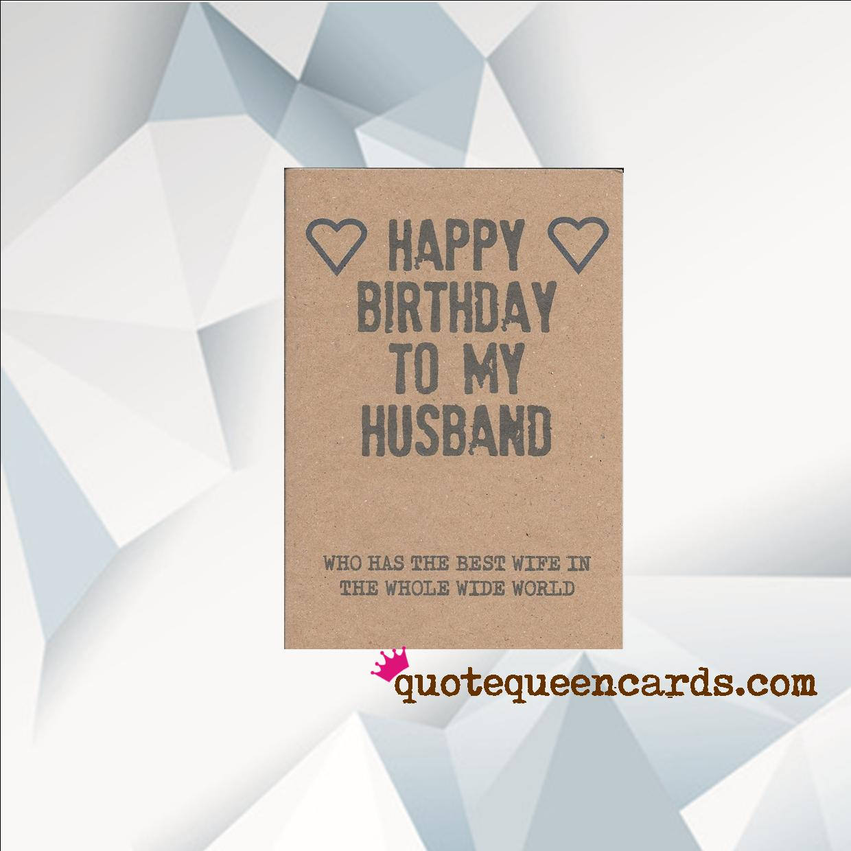 Funny Husband Birthday Card Funny Birthday Card Funny Card