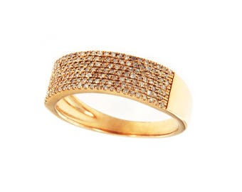 mens rose gold ring with diamonds