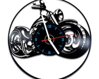 Harley vinyl record clock, Davidson home decor idea, best gift idea