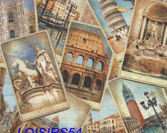 Italy and Rome 33 cm x 33 cm paper towel