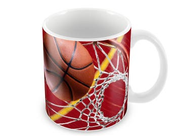 Basketball Ceramic Coffee Mug    Free Personalisation