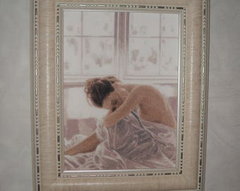 "cross stitch, вышивка ""Morning"", size 32x23 centimeters"