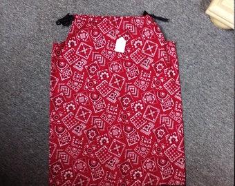 Bandana style pillow case dress