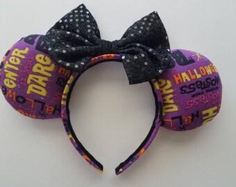 Halloween Words Mickey Ears