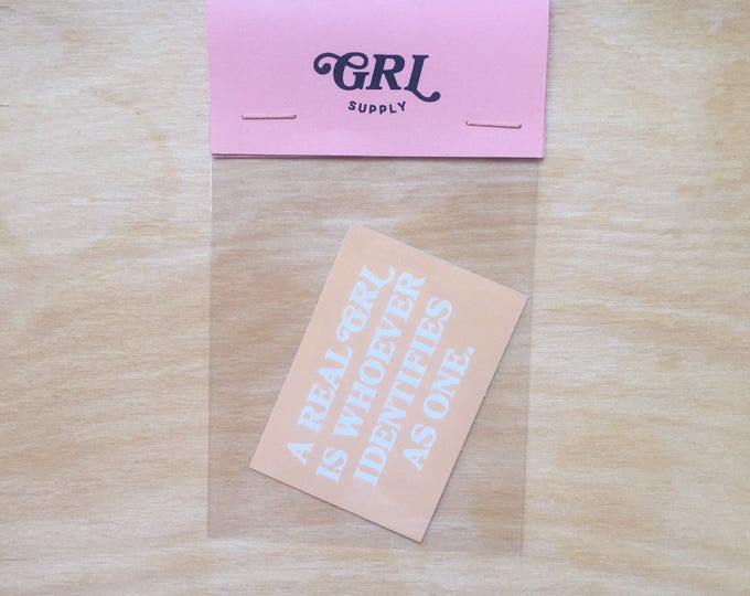 Featured listing image: Real GRL sticker