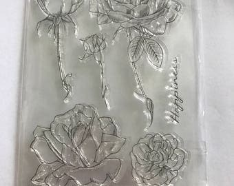 Clear Stamp Set 'Rose'