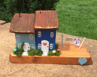 Handmade wooden cottages/houses, Collectable, Gift, Unique.