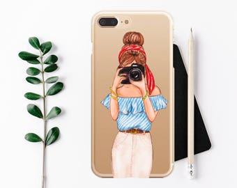 iPhone 7 Plus case Photographer camera iPhone 7 Case, iPhone 6 / 6s / 6 Plus Case, iPhone 5s / SE / 5 Case, Hard plastic/ rubber case.