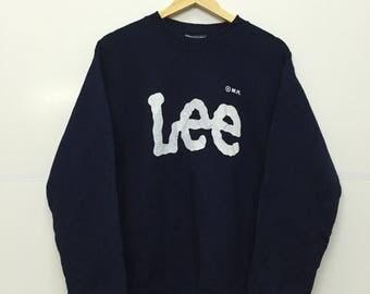 Rare!! Vintage 90's Lee Big Logo Crewneck Sweatshirt