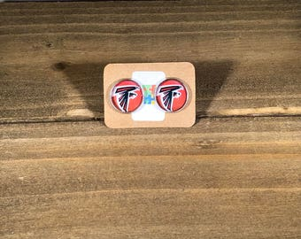 Atlanta Falcons stainless steel studs, Atlanta Falcon gift, Atlanta Falcons Gift idea