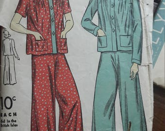 1940s pattern for lounge set