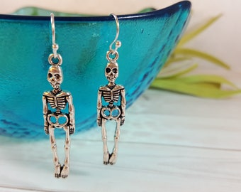 Skeleton Earrings, Goth Earrings, Halloween Earrings, Gothic Earrings, Horror Earrings, Skeleton, Zombie, Nurse Earring, Skull, Doctor