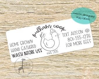 Customized Farm Fresh Egg Label