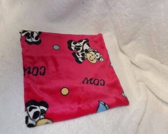cow pattern square blanket
