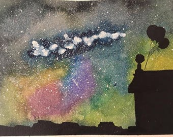 original night sky painting