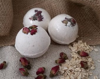 Bath Bomb Gift Set, Premium Bath Bomb, Rose Bath Bomb,For Her, Valentines Gift Set, Free Shipping, Made In USA, Mothers Day