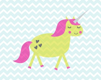 Unicorn SVG & PNG, Unicorn Clipart, Cartoon Unicorn, Unicorn Printable, DIY Unicorn Wall Art, Print and Cut Unicorn, Commercial Use Unicorn