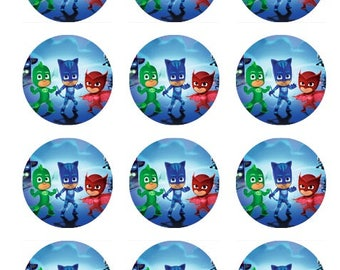 PJ Masks edible cupcake topper
