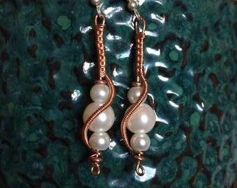 Pearl Tidal Wave Earrings