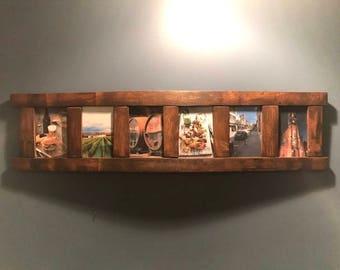 Rustic Barrel Stave Multi-Picture Frame