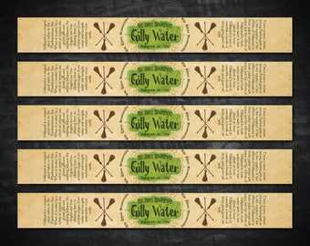 Harry Potter Gilly Water Printable Water Bottle Labels, Avery Label 22845 Template, Harry Potter Gillywater Labels, Instant Download