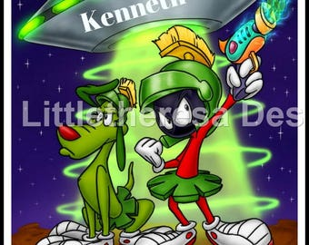 Marvin The Martian Personalized Iron On Transfer,Digital Transfer,Digital Iron On, DIY