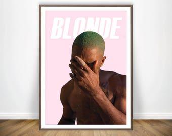 Frank Ocean Print * Frank Ocean Poster Frank Ocean Blonde Poster Frank Ocean Art Frank Ocean Lyrics Wall Art Hip Hop Wall Art Hip Hop Poster