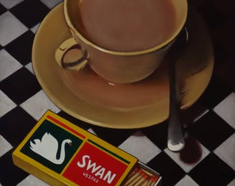 Spilt tea and matches