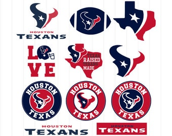 INSTANT DOWNLOAD - Houston Texans Svg, Houston Texans Clipart, Houston Texans Cut Files, Football Decal, Football Svg, Football Clipart