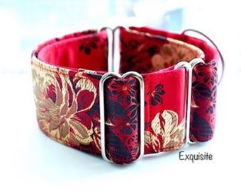 EXQUISITE - Martingale collar, fancy dog collar, Greyhound collar, Saluki collar, Galgo collar, Whippet collar, sight hound collar, wedding