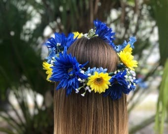 Tampa Bay Rays Flower Crown