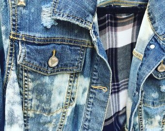 Handmade Studded Denim Jacket