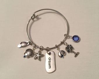 "Sapphire ""Dream"" Bangle Charm Bracelet"