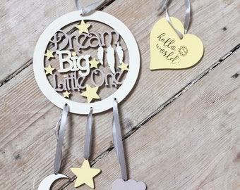 Dream Big Dreamcatcher/Dreamcatcher/Nursery Decor/New Baby Gift/Baby Shower Gift/Birthday Gift/Keepsake