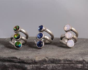 Swarovski Ring, Sterling Silver Plated Ring, Uno de 50 Style Ring, Gift For Her, Gifts, Uno de 50 Jewelry