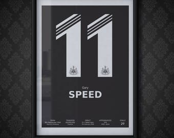 Gary Speed - Number 11 | Print A3 Poster