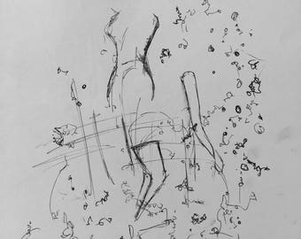 Abstract ink drawing