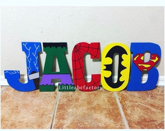 11in Superhero letters, super hero name, super heroes, superheroes, batman