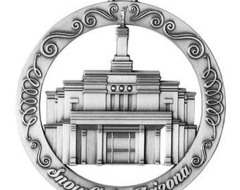 Snowflake Arizona LDS Temple Ornament - LDS Gifts