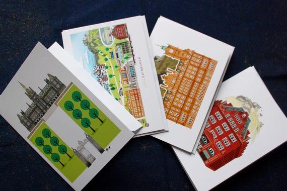 Edinburgh greetings cards pack of 4 scottish gifts blank like this item m4hsunfo