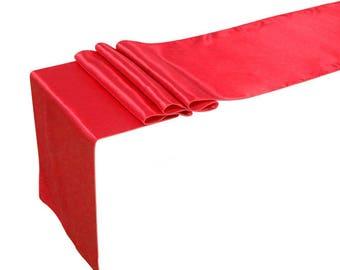 "12"" x 108"" Satin Table Runner (red)"