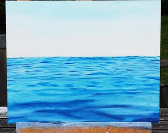 Oil painting seascape - 24x30cm/9x12inch - water painting - sea painting - original art - colorful art - wall art - on MDF board