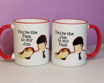 You're the Pam to my Jim | The Office | Couples Coffee Mugs | Valentine's Day Mugs | Pam and Jim Mugs | The Office gifts | The Office Coffee